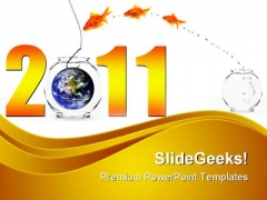Happy New Year Business PowerPoint Templates And PowerPoint Backgrounds 0511
