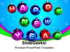 Happy New Year Festival PowerPoint Backgrounds And Templates 0111