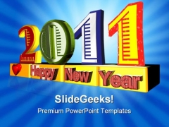 Happy New Year Festival PowerPoint Themes And PowerPoint Slides 0511