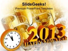 Happy New Year Holiday PowerPoint Templates Ppt Backgrounds For Slides 1112