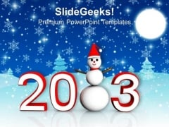 Happy New Year Snow Background PowerPoint Templates Ppt Backgrounds For Slides 1212