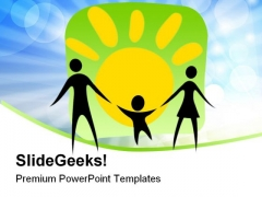 Happy Parents And Child Family PowerPoint Templates And PowerPoint Backgrounds 0611