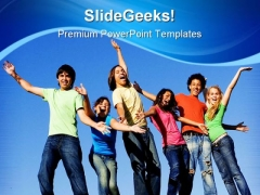 Happy People Entertainment PowerPoint Templates And PowerPoint Backgrounds 0311