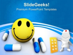 Happy Pills Health PowerPoint Templates Ppt Backgrounds For Slides 0413