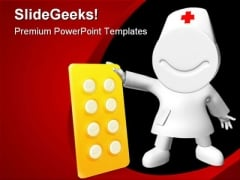 Happy Pills Medical PowerPoint Backgrounds And Templates 1210