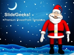 Happy Santa Clause Joy Christmas PowerPoint Templates Ppt Backgrounds For Slides 1212