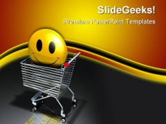 Happy Shoppers Sales PowerPoint Templates And PowerPoint Backgrounds 0611