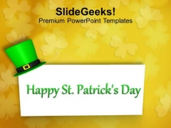 Happy St Paticks Day Greeting Card PowerPoint Templates Ppt Backgrounds For Slides 0213