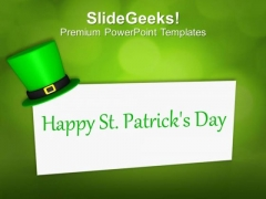 Happy St Patricks Day Card Celebration PowerPoint Templates Ppt Backgrounds For Slides 0213