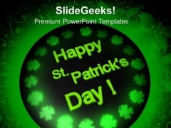 Happy St Patricks Day Celebration PowerPoint Templates Ppt Backgrounds For Slides 0313