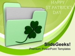 Happy St Patricks Day Holidays PowerPoint Templates Ppt Backgrounds For Slides 0313