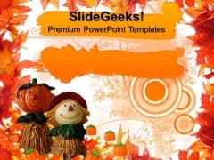 Happy Thanksgiving Autumn Festival PowerPoint Templates And PowerPoint Themes 0812