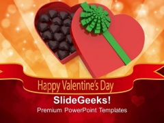 Happy Valentines Day With Gift PowerPoint Templates Ppt Backgrounds For Slides 0213