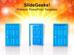 Hardwork Will Open The Door Of Success PowerPoint Templates Ppt Backgrounds For Slides 0413