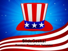 Hat With American Flag Theme Nation PowerPoint Templates And PowerPoint Themes 0812