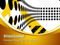 Hazard Dots Abstract PowerPoint Themes And PowerPoint Slides 0811