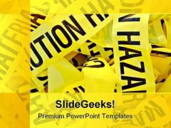 Hazardous Symbol PowerPoint Template 0910