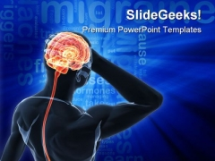 Headache Migraine Medical PowerPoint Templates And PowerPoint Backgrounds 0611