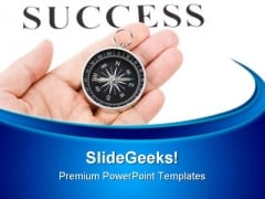 Headline Success And Compass Business PowerPoint Themes And PowerPoint Slides 0511
