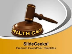 Health Care Law PowerPoint Templates Ppt Backgrounds For Slides 0113