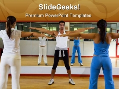Health Club People PowerPoint Backgrounds And Templates 1210