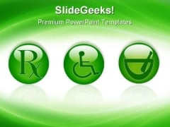Healthcare Buttons Medical PowerPoint Templates And PowerPoint Backgrounds 0711