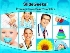 Healthy Babies Medical PowerPoint Templates And PowerPoint Backgrounds 0811