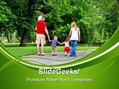 Healthy Family PowerPoint Templates And PowerPoint Backgrounds 0411