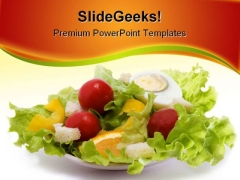 Healthy Salad Food PowerPoint Template 1110