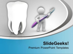 Healthy Teeth PowerPoint Templates Ppt Backgrounds For Slides 0413