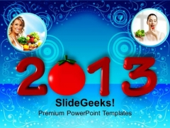 Healthy Upcoming Year Food PowerPoint Templates Ppt Backgrounds For Slides 1212