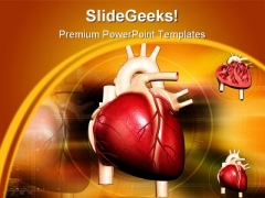 Heart Abstract Medical PowerPoint Backgrounds And Templates 1210