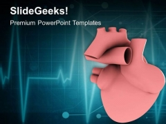 Heart And Ecg Shown In 3d Medical PowerPoint Templates Ppt Backgrounds For Slides 0413