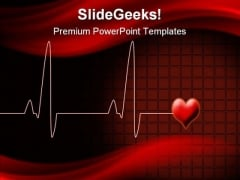 Heart Beat Medical PowerPoint Template 0610