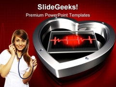 Heart Beat Medical PowerPoint Themes And PowerPoint Slides 0211