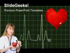 Heart Beat Medical PowerPoint Themes And PowerPoint Slides 0611