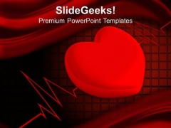 Heart Cardio Gram Medical PowerPoint Templates And PowerPoint Themes 1012