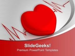 Heart Cardiogram Medical PowerPoint Templates Ppt Backgrounds For Slides 1212