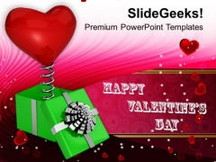 Heart Coming Out Of Box Valentines Gift PowerPoint Templates Ppt Backgrounds For Slides 0213
