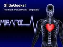 Heart Line Medical PowerPoint Templates And PowerPoint Backgrounds 0811