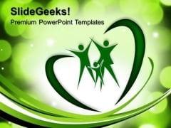 Heart Love Family PowerPoint Templates And PowerPoint Themes 0712