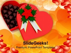 Heart Shaped Box Having Chocolates Occassion PowerPoint Templates Ppt Backgrounds For Slides 0213