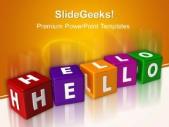 Hello Cubes Shapes PowerPoint Templates And PowerPoint Themes 0412