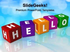 Hello Cubes Shapes PowerPoint Templates And PowerPoint Themes 0512