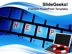 Help Computer Internet PowerPoint Templates And PowerPoint Themes 0712