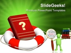 Help In Information Search Education PowerPoint Templates And PowerPoint Backgrounds 0311