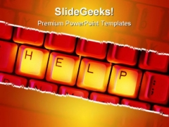Help Keys Computer PowerPoint Templates And PowerPoint Backgrounds 0211