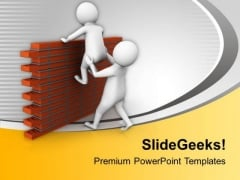 Help Others To Jump Difficulties PowerPoint Templates Ppt Backgrounds For Slides 0813