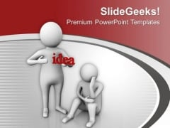 Help Sad People With Sharing Idea PowerPoint Templates Ppt Backgrounds For Slides 0613