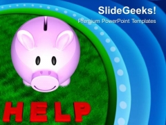 Help To Others For Saving Money PowerPoint Templates Ppt Backgrounds For Slides 0713